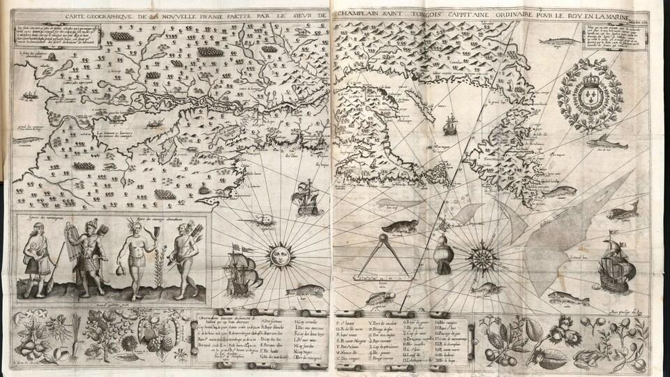 Samuel de Champlain, «Carte geographique de la Nouvelle Franse», Paris, 1612.