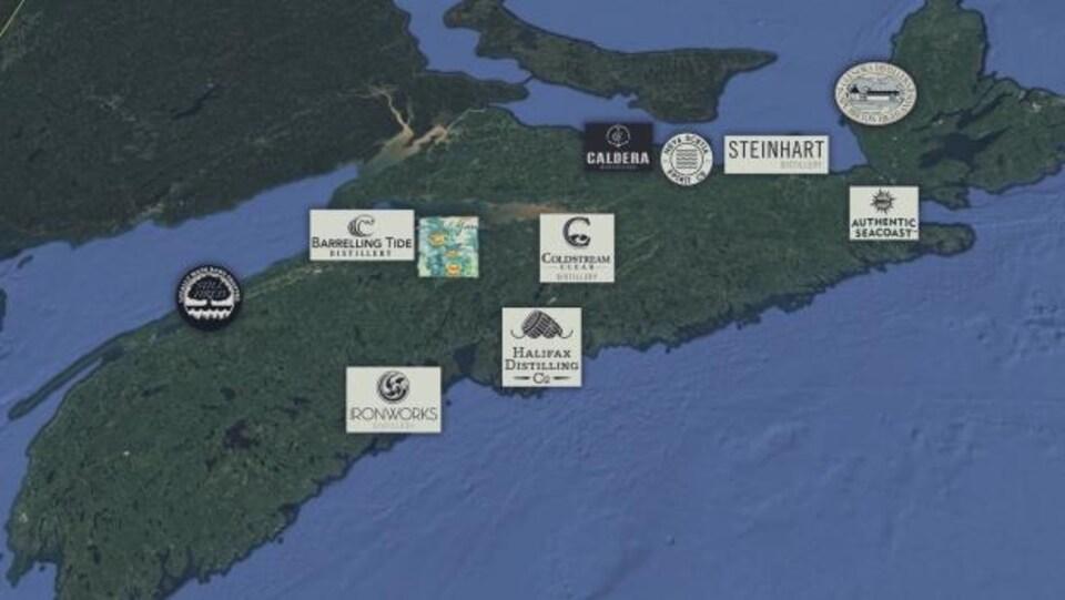 La Nouvelle-Écosse devient de plus en plus connue à l'international pour ses distilleries artisanales.