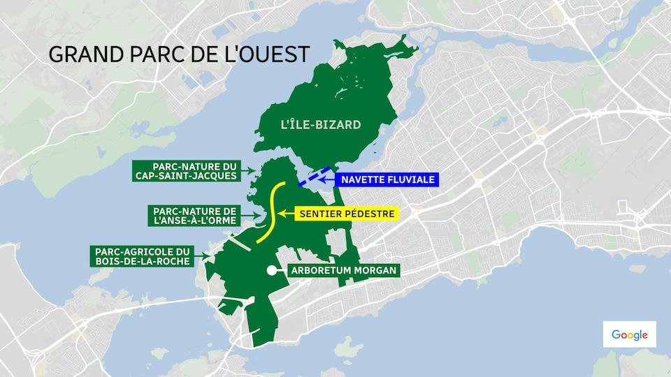 Carte du projet de parc.