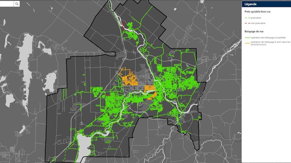 En date du 24 mai 2018, la Ville de Sherbrooke a nettoyé 80 % du territoire.