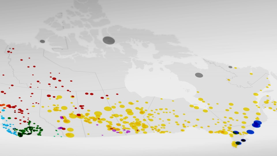 Les langues algonquiennes sont les plus répandues au Canada.
