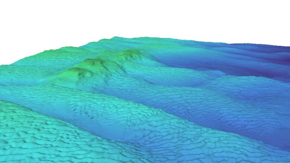 Une carte où on voit une montagne modélisée en trois dimensions.