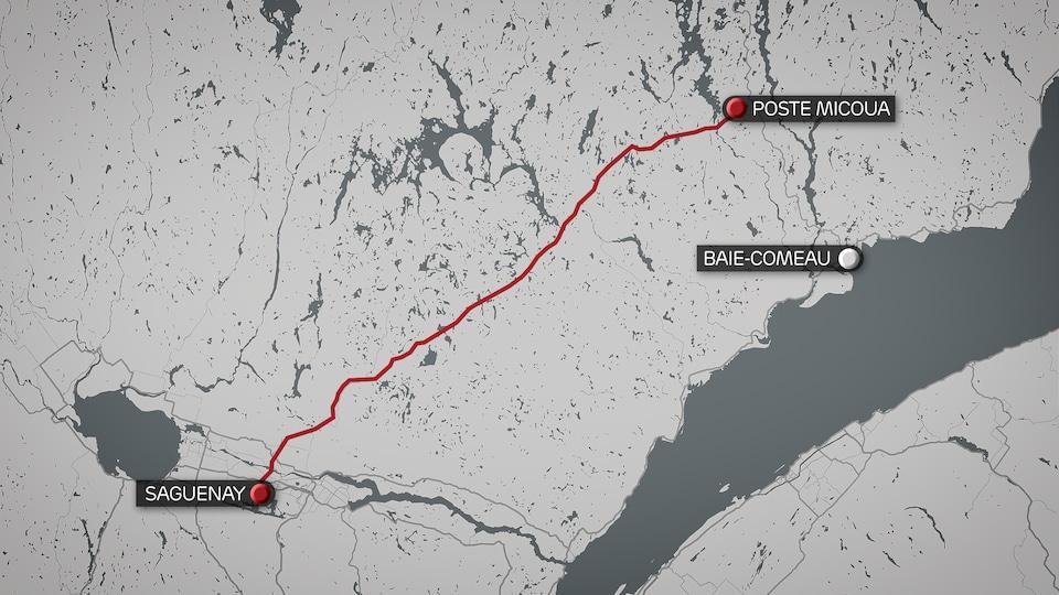 Tracé Micoua-Saguenay