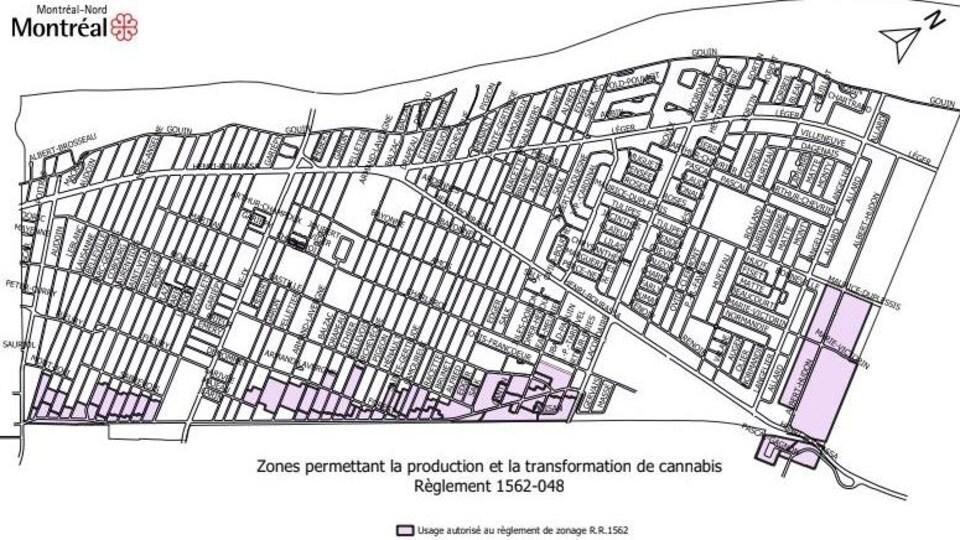 Carte de l'arrondissement de Montréal-Nord