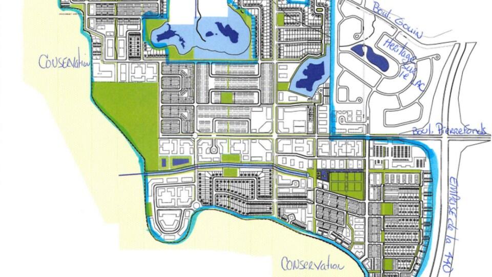 Carte du projet immobilier.