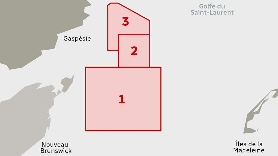 Carte représentant les zones protégées