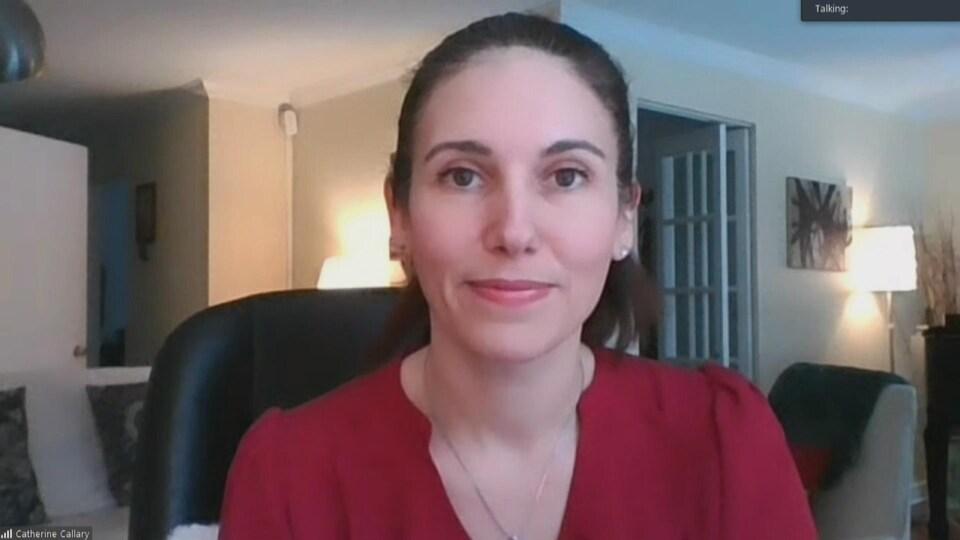 Catherine Callary en entrevue chez elle.