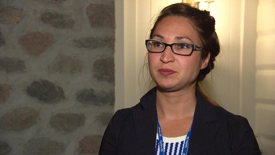 Catherine Thibeault  en entrevue