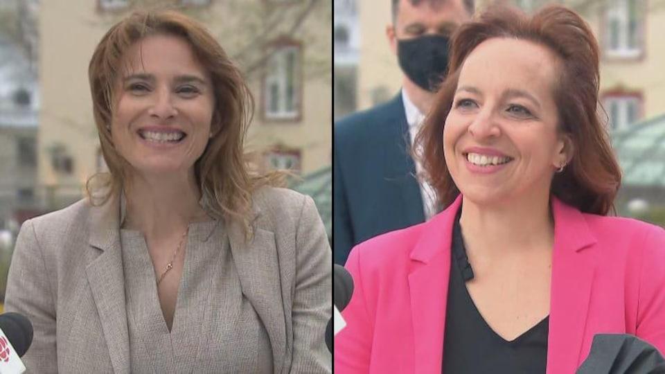Les candidates de Québec forte et fière.