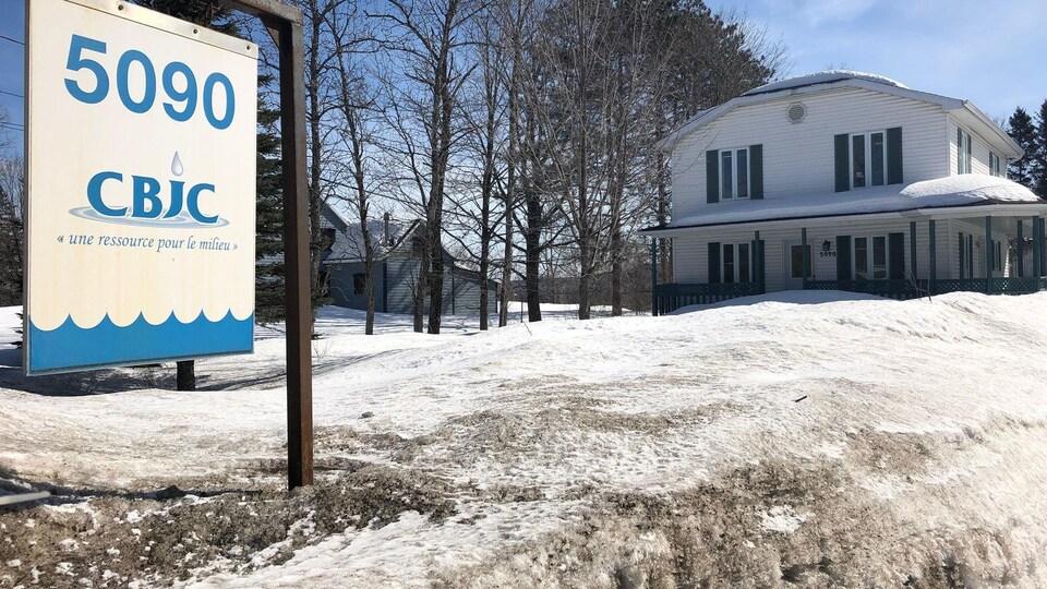 Les bureaux de la Corporation du bassin de la Jacques-Cartier (CBJC) à Sainte-Catherine-de-la-Jacques-Cartier.