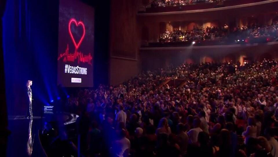 Céline Dion sur scène à Las Vegas