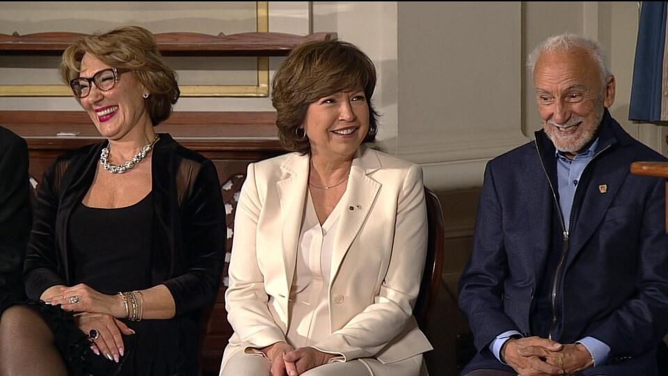 Céline Galipeau, lors de la cérémonie de remise des médailles d'honneur de l'Assemblée nationale, le 8 mai 2017