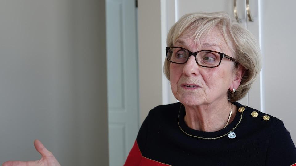 Céline Lefrançois en entrevue.