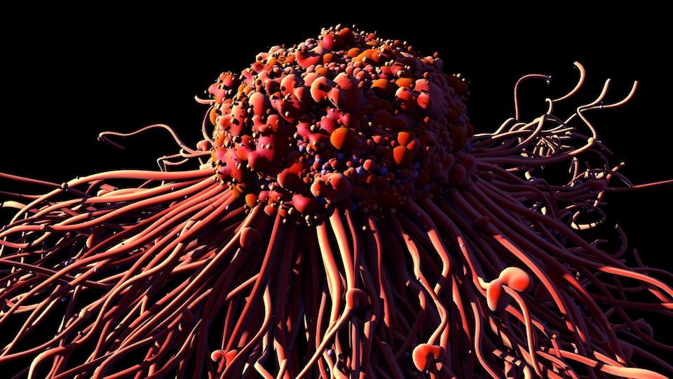 Illustration montrant une cellule cancéreuse.
