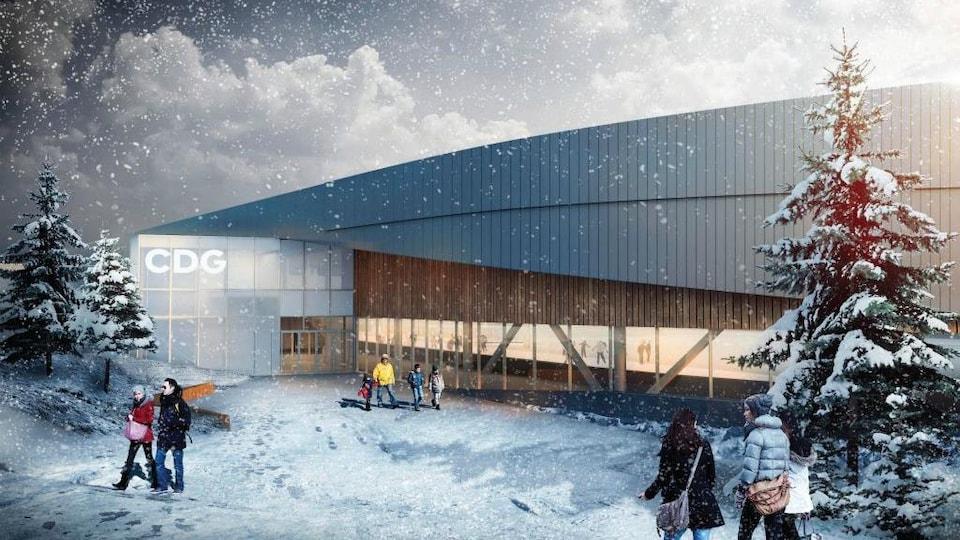 Maquette du Centre des glaces