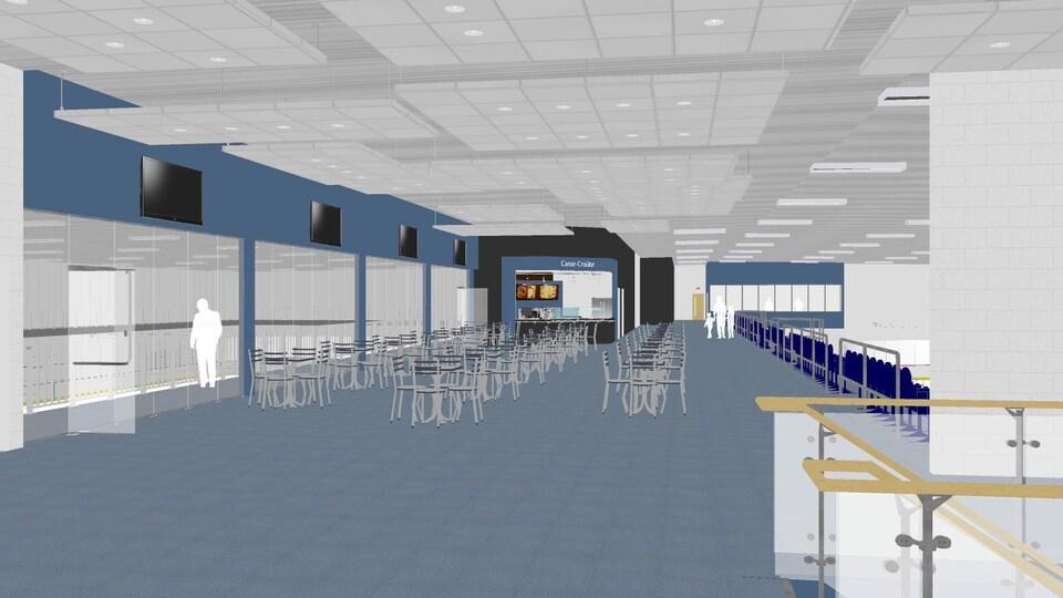 Une aire de rencontre sera aménagée entre les deux patinoires.