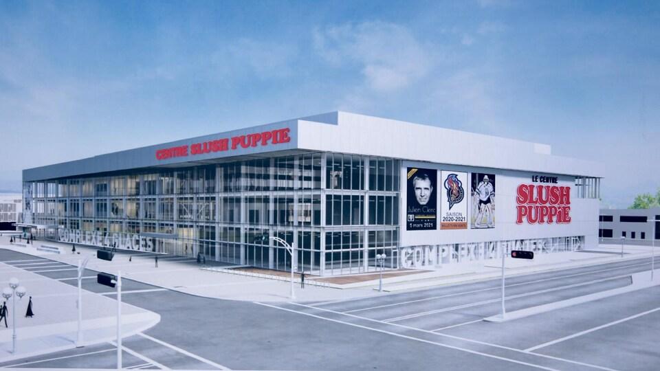 Esquisse du futur Centre Slush Puppie de Gatineau.