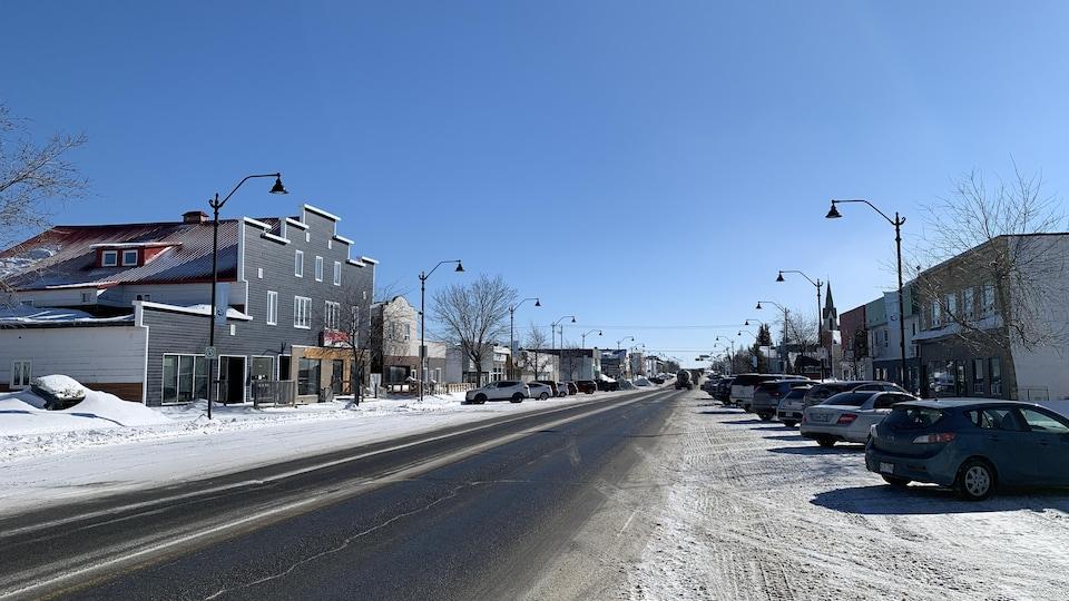 Le centre-ville de Malartic.