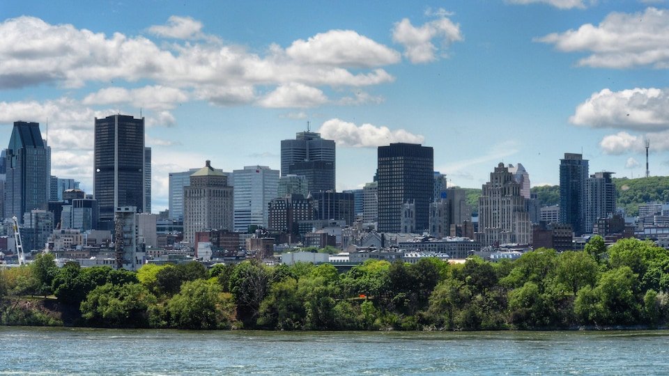 Vue sur le centre-ville de Montréal.