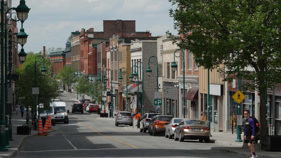 Le centre-ville de Sherbrooke.