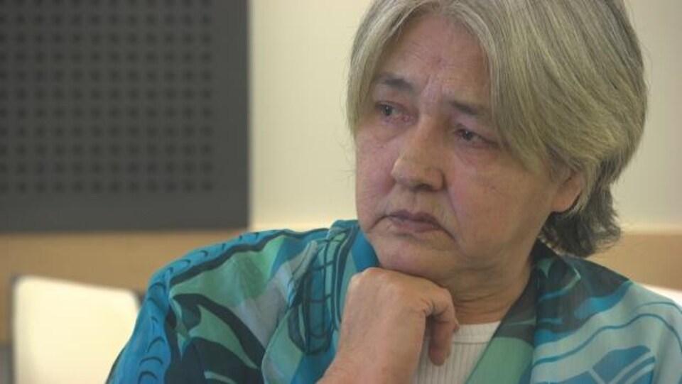 La grand-tante de Tina Fontaine, Thelma Favel, gros plan