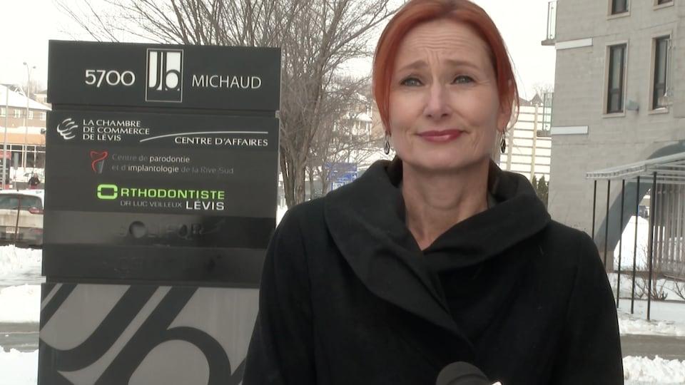 La directrice générale de la Chambre de commerce de Lévis, Marie-Josée Morency