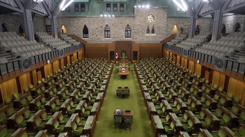 La Chambre des communes vide.