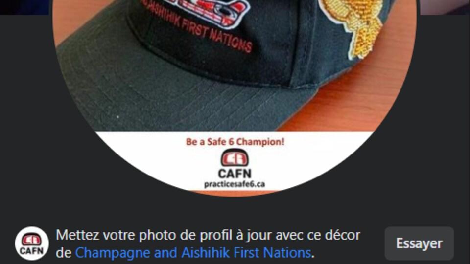 Capture d'écran d'une photo de profil Facebook.