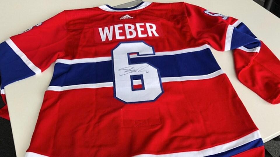Chandail des Canadiens de Montréal signé par Shea Weber