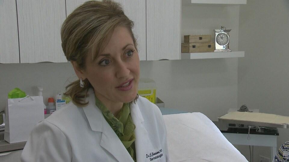 Chantal Chiasson, dermatologue à l'Institut Figurra et pour les réseaux de santé publics au Nouveau-Brunswick.