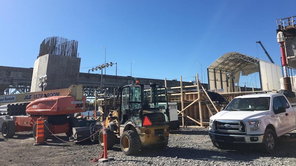 Le chantier du nouveau pont Champlain, le 20 octobre 2017