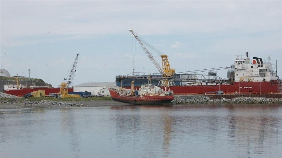 Le chantier maritime Verreault de Les Méchins.