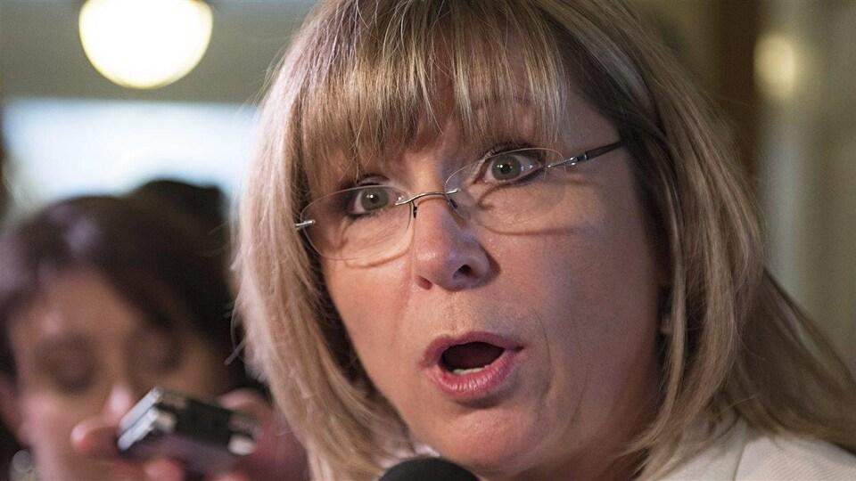 La ministre libérale Francine Charbonneau