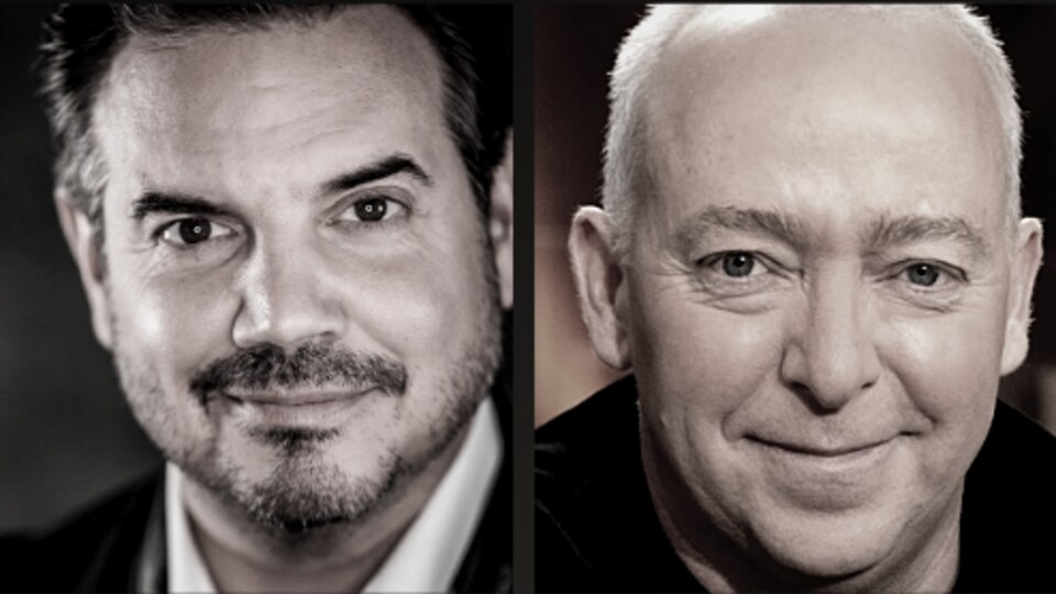 Montage de portrait des deux hommes.