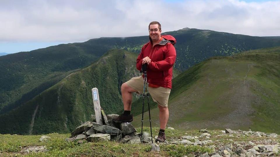 Charles Lapointe, dans les montagnes gaspésiennes.