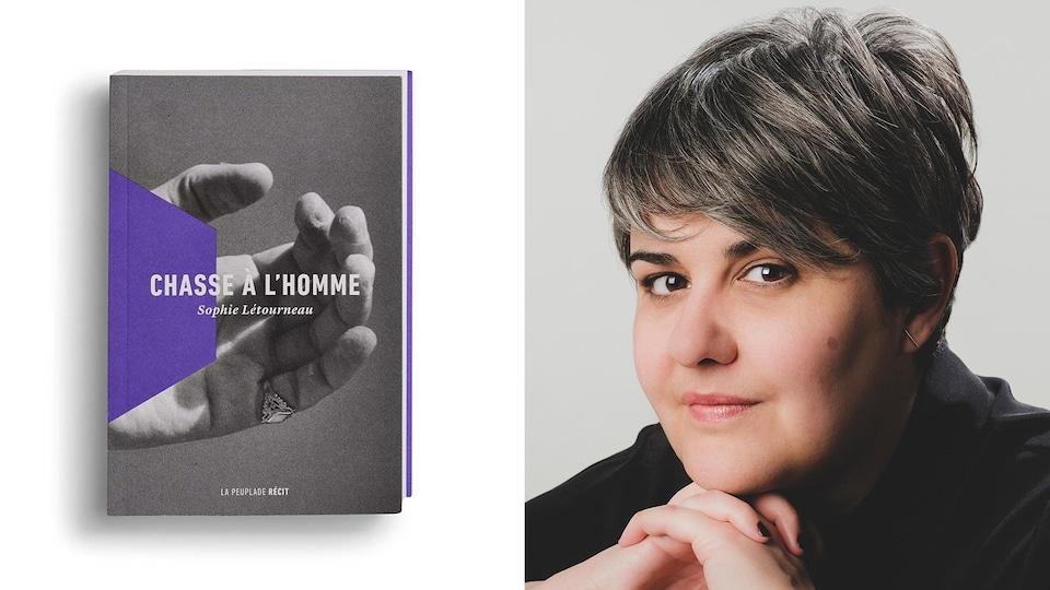 Montage photo de la page couverture avec le portrait de l'écrivaine.