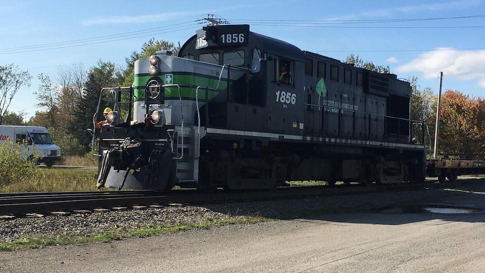 Wagon de chemin de fer en Gaspésie