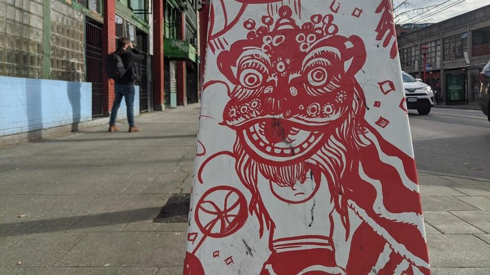 Une décoration dans Chinatown à Vancouver.