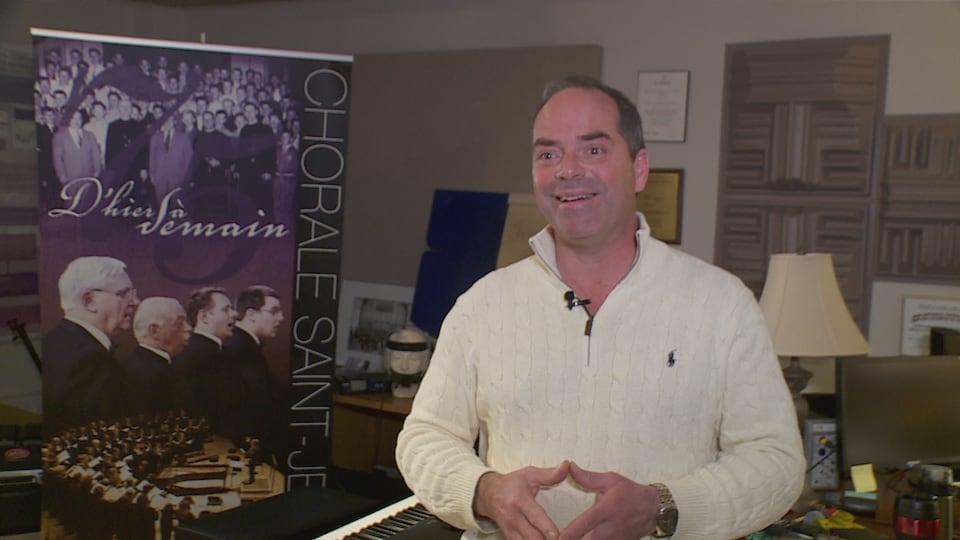Laurier Fagnan, directeur de la Chorale Saint-Jean.