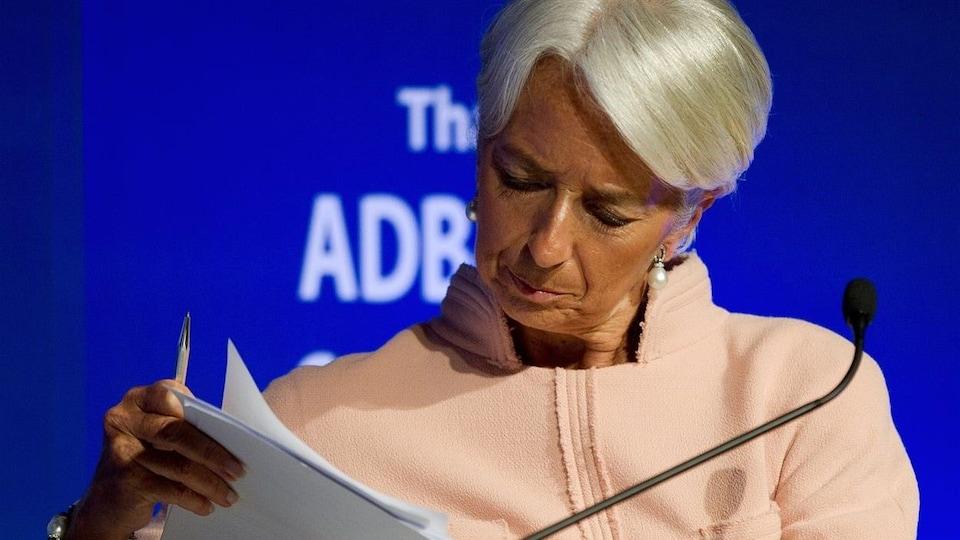 Christiane Lagarde, directrice du FMI