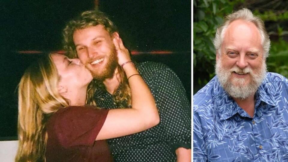 Chynna Deese embrasse Lucas Fowler dans la première photo. Leonard Dyck, en gros plan, dans la deuxième photo.