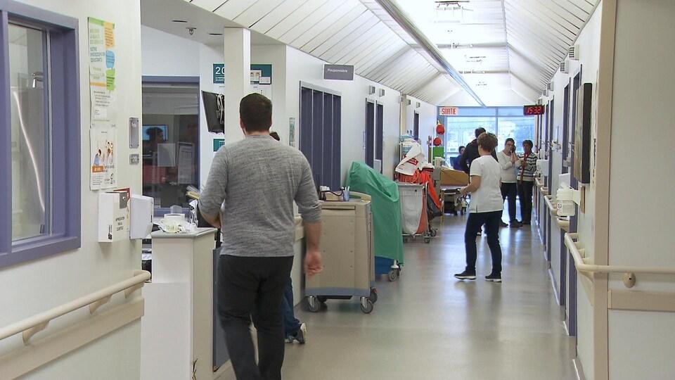 Dans les corridors du Centre intégré de santé et de services sociaux des Îles-de-la-Madeleine