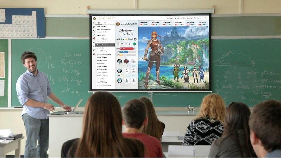 Le jeu Classcraft est utilisé dans les écoles pour stimuler la collaboration entre les élèves.