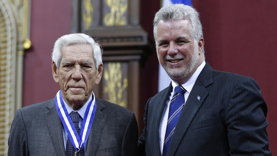 Claude Castonguay et Philippe Couillard.