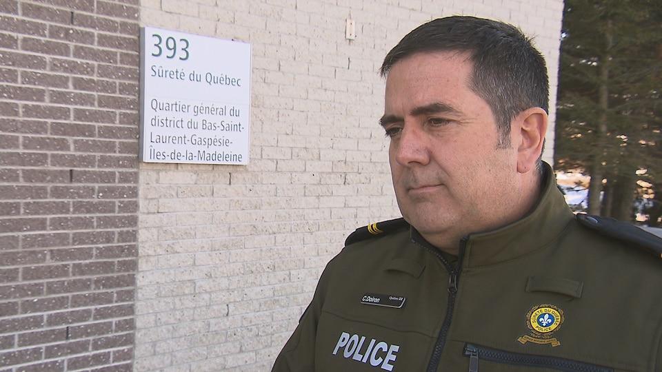 Le sergent Claude Doiron,agent d'information à la Sûreté du Québec