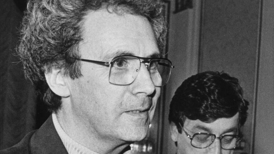 Claude Jutra à Québec, en 1984.