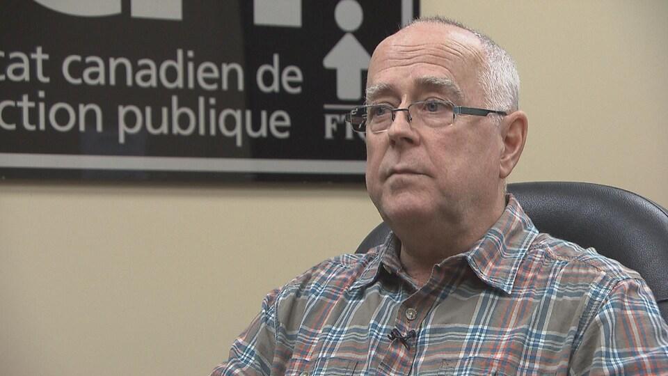 Alain Caron, président du syndicat des employés de Cogeco au Québec