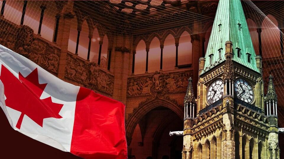 Les travaux sur la colline du Parlement, à Ottawa