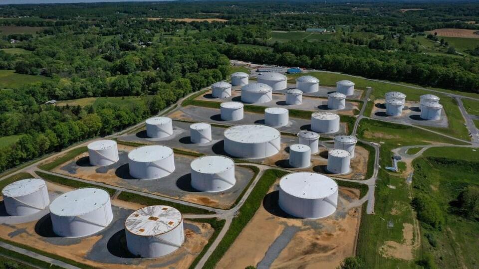 Une vue aérienne des installations de Colonial Pipeline à Washington D.C.