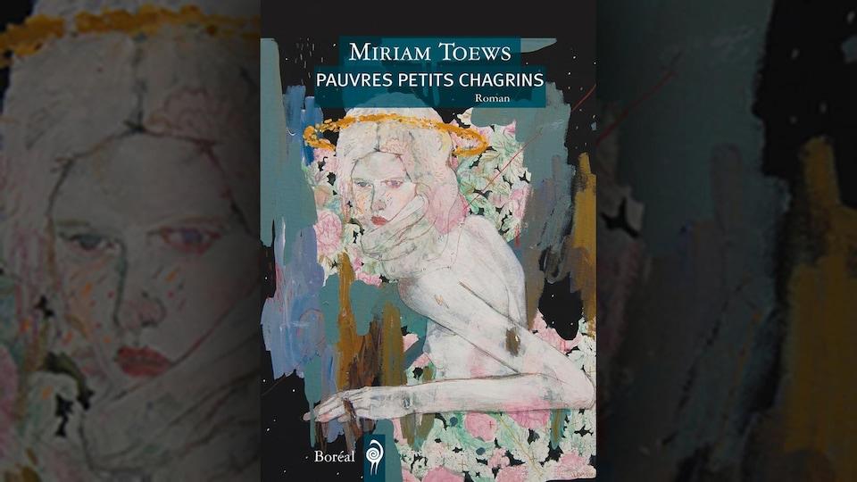 Sur la couverture, un détail du tableau Corps céleste II d'Alexandra Levasseur : une femme torse nue, de dos, se retournant, avec un foulard autour du cou, une auréole autour de la tête. Autour, du feuillage et des fleurs.